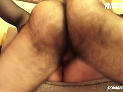 AmateurEuro - Shy BBW Newbie Moana Hard Drilled In 3way Fun
