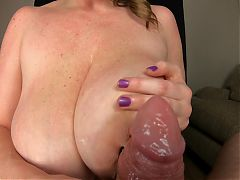 KCupQueen - Nipple Clamp, Tittyfuck and Blowjob
