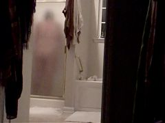 Spying chunky wife shower hidden cam