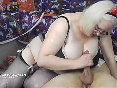 Devil Sally has some fun with a cock