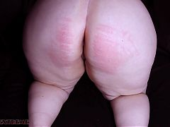 Big Ass Chubby PAWG Butt Caning and Orgasm For Step Sister