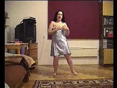 Chubby wife dancing naked