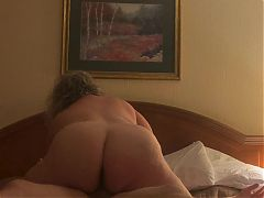Hot Blonde BBW Riding Me Cowgirl Style
