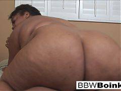 Brunette BBW is back for more hot black cock action