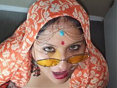 Indian XL girl - Namaste and cum swallow